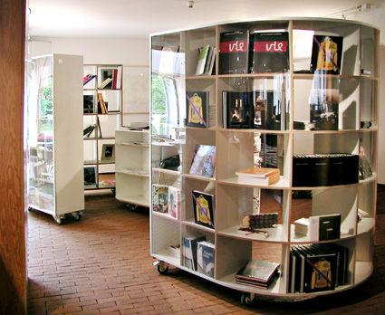 Innenarchitektur für den Marta Bookshop